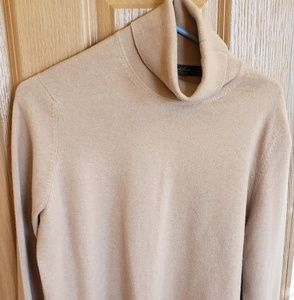 Brooks brothers womens camel cashmere turtleneck